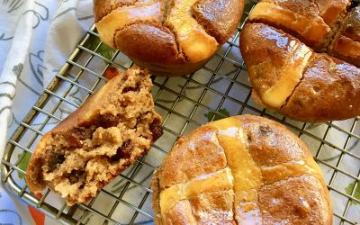 Maple Glazed Hot Cross Buns